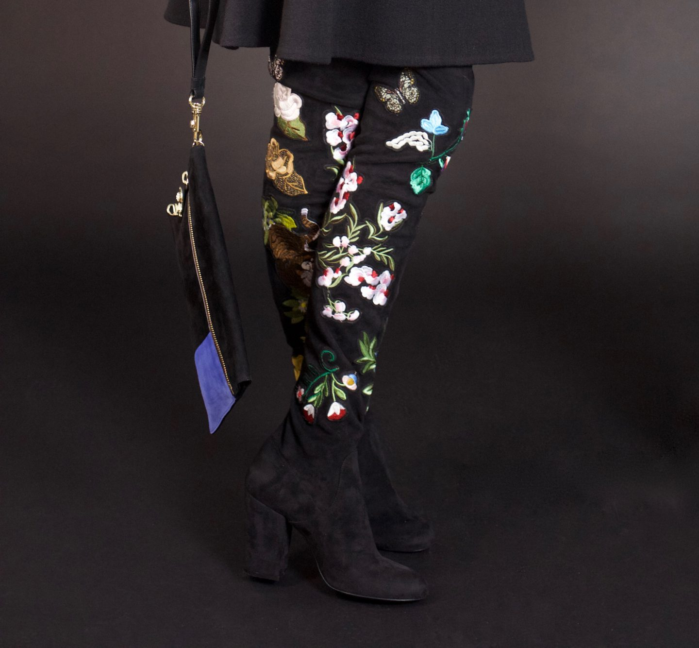 FASCINATING FLOWER OVER-THE-KNEE BOOTS