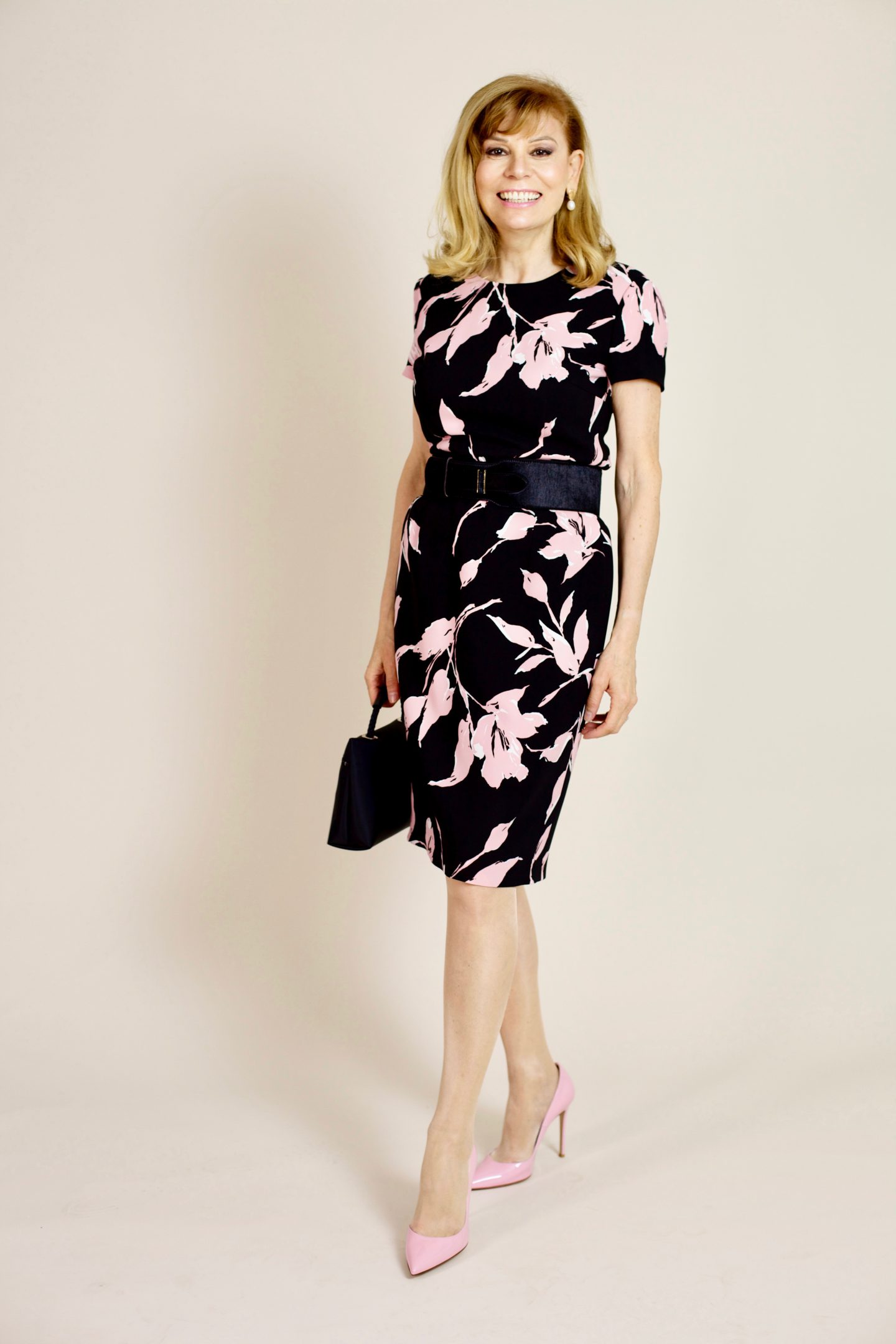 FOREVER ROMANTIC PINK FLORAL DRESS